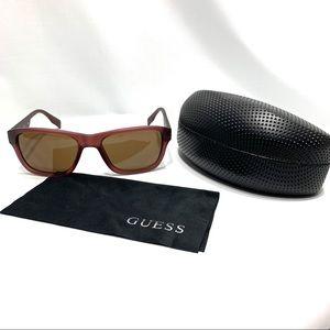 GUESS Sunglasses Brown Rectangle GU6802 MBRN 1